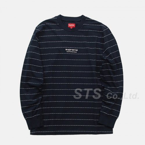 Supreme - Logo Stripe L/S Top