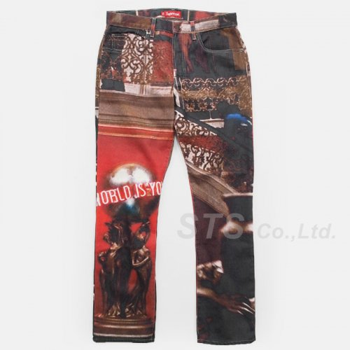 Supreme - Scarface The World Is Yours 5-Pocket Jeans
