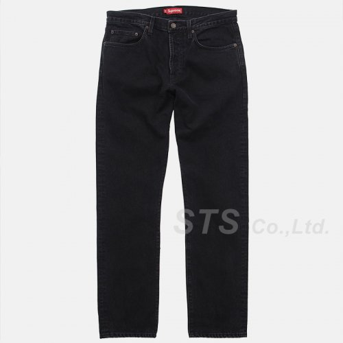 Supreme - Stone Washed Black Slim Jeans