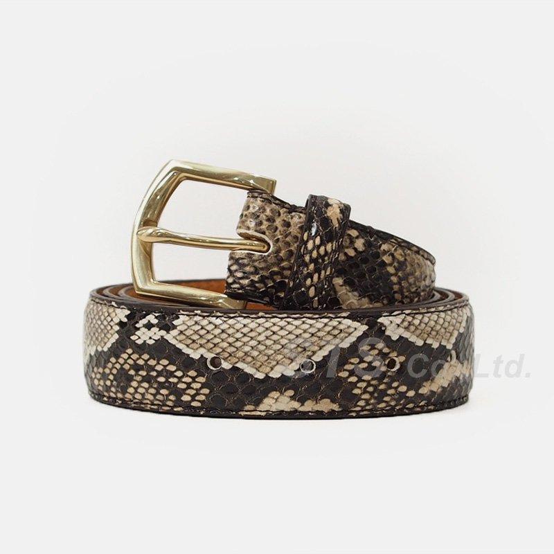 Supreme - Faux Snakeskin Belt