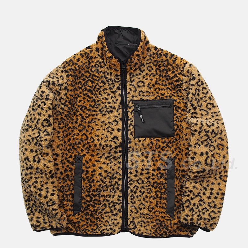 Supreme - Leopard Fleece Reversible Jacket