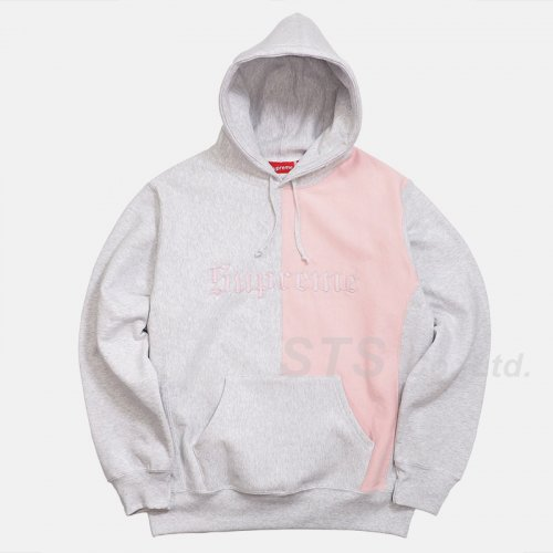 Supreme - Split Old English Hooded Sweatshirt