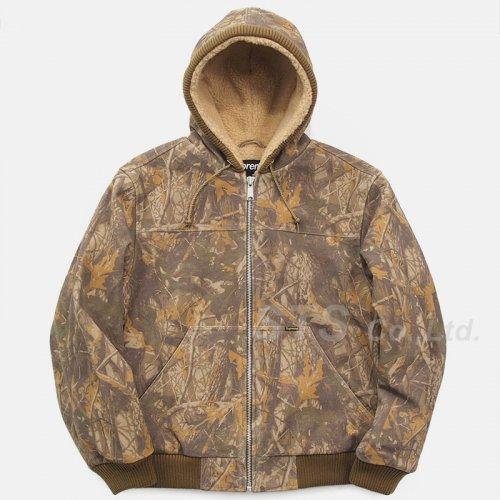 Supreme - Hooded Suede Work Jacket