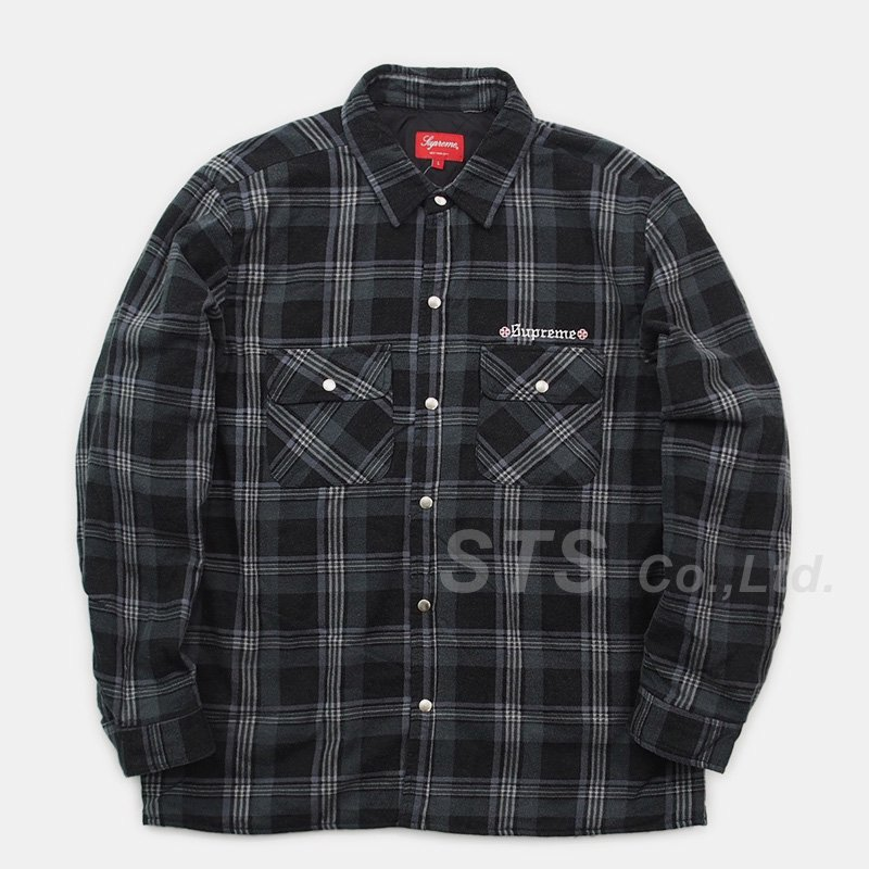 Supreme/Independent Quilted Flannel Shirt