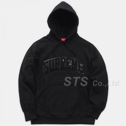 Supreme - Patent/Chenille Arc Logo Hooded Sweatshirt