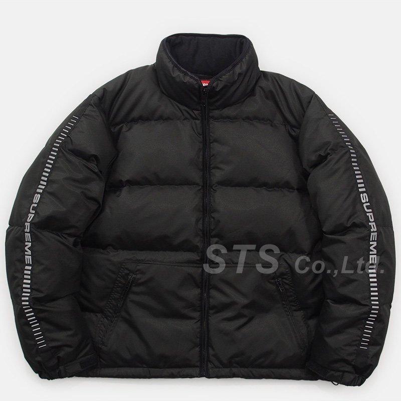 Supreme - Reflective Sleeve Logo Puffy Jacket