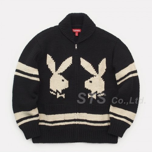 Supreme/Playboy Shawl Collar Full Zip Sweater