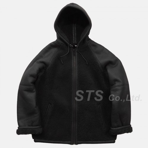 Supreme - Reversed Shearling Hooded Jacket