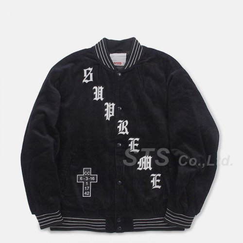 Supreme - Old English Corduroy Varsity Jacket