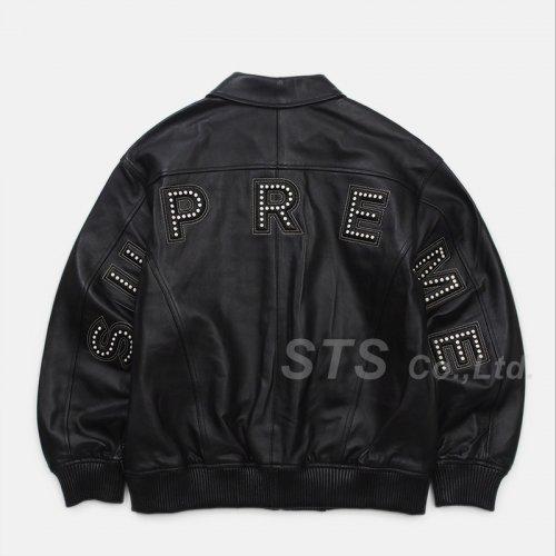 Supreme - Studded Arc Logo Leather Jacket