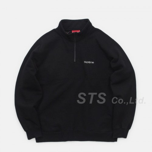 Supreme - Color Blocked Half Zip Sweatshirt