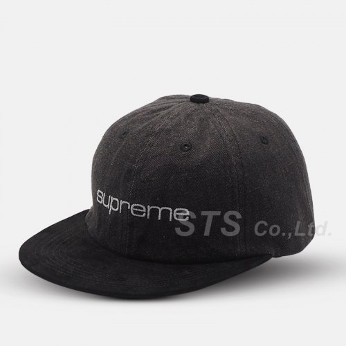 Supreme - Denim Suede Compact Logo 6-Panel