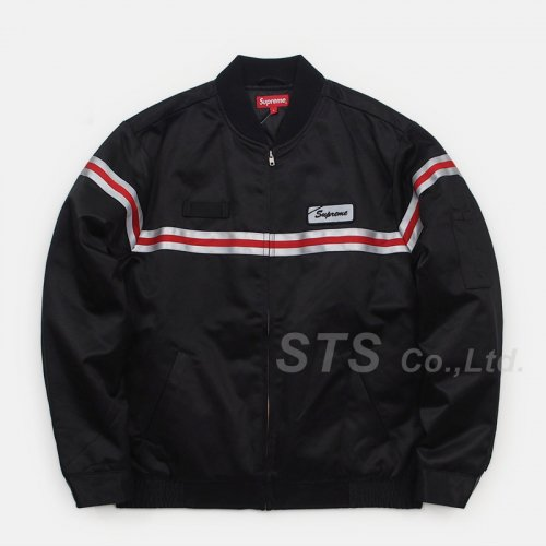 Supreme - Reflective Stripe Work Jacket