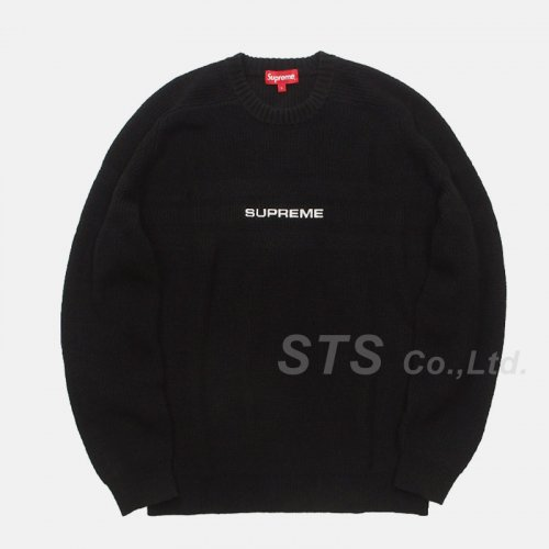 Supreme - Chest Stripe Raglan Sweater