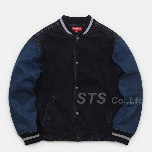 Supreme - Denim Varsity Jacket