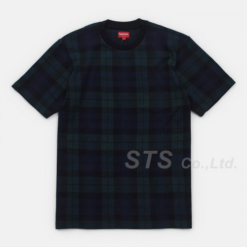 Supreme - Jacquard Tartan Plaid Pocket Tee
