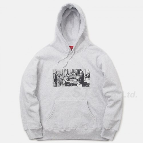 Mike Kelley/Supreme Franklin Signing the Treaty of Alliance with French Officials Hooded Sweatshirt