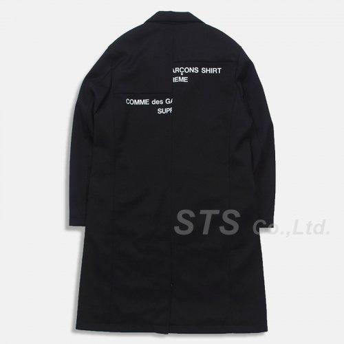 Supreme/Comme des Garcons SHIRT Wool Overcoat