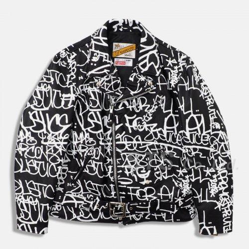 Supreme/Comme des Garcons SHIRT Schott Painted Perfecto Leather Jacket