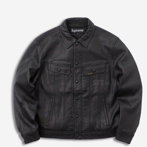 Supreme - Leather Trucker Jacket