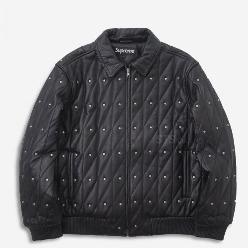 Supreme - Quilted Studded Leather Jacket