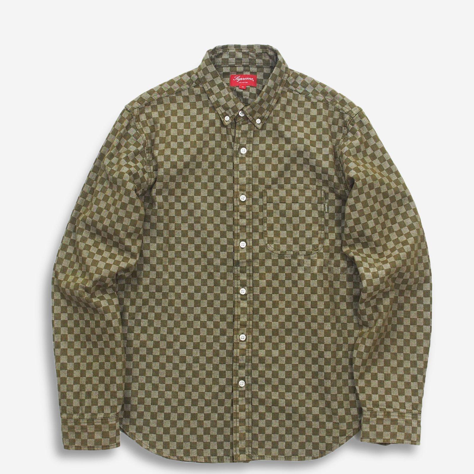 a06a98fbc35e Supreme - Checkered Denim Shirt - ParkSIDER