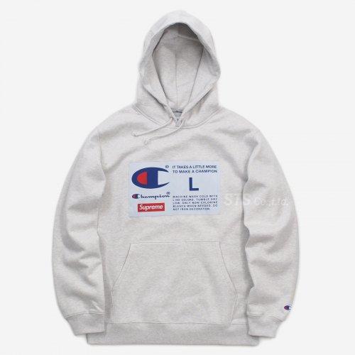 Supreme/Champion Label Hooded Sweatshirt