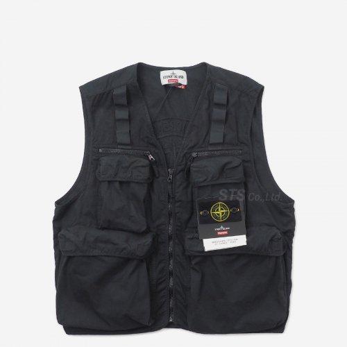 Supreme/Stone Island Camo Cargo Vest