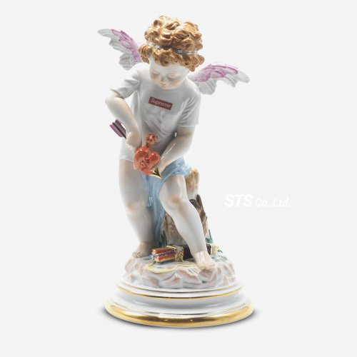 Supreme/Meissen Hand-Painted Porcelain Cupid Figurine