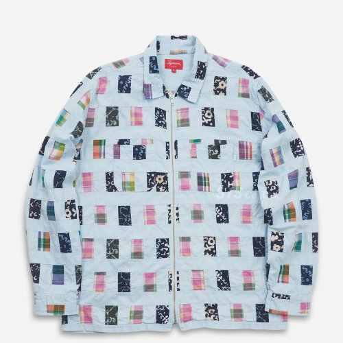 Supreme - Patchwork Zip Up Shirt