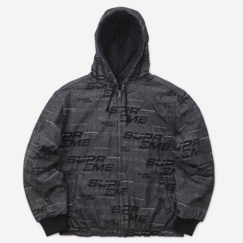 Supreme - Reversible Dimensions Logo Denim Work Jacket