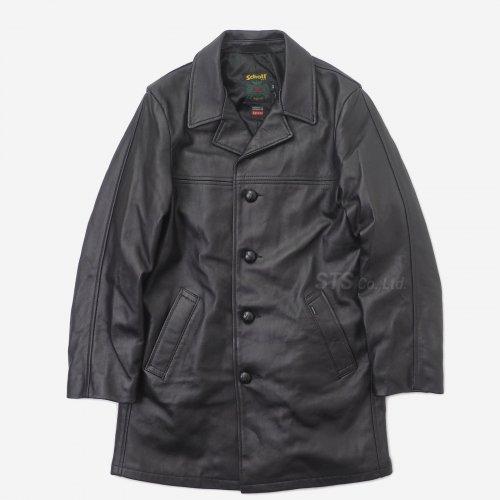 Supreme/Schott Leather Overcoat