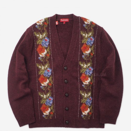 Supreme - Floral Stripe Cardigan