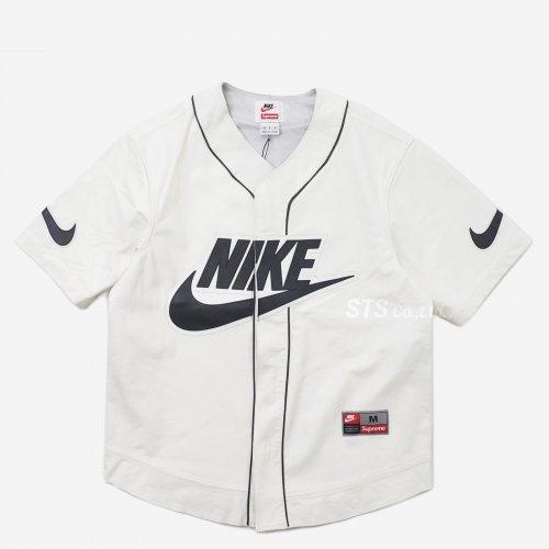 Supreme/Nike Leather Baseball Jersey