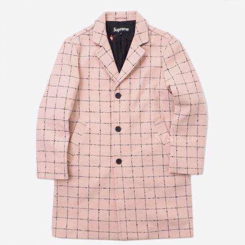 Supreme - Wool Windowpane Overcoat