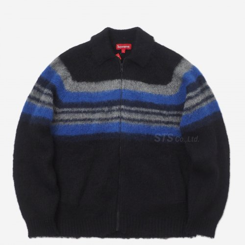 Supreme - Brushed Wool Zip Up Sweater
