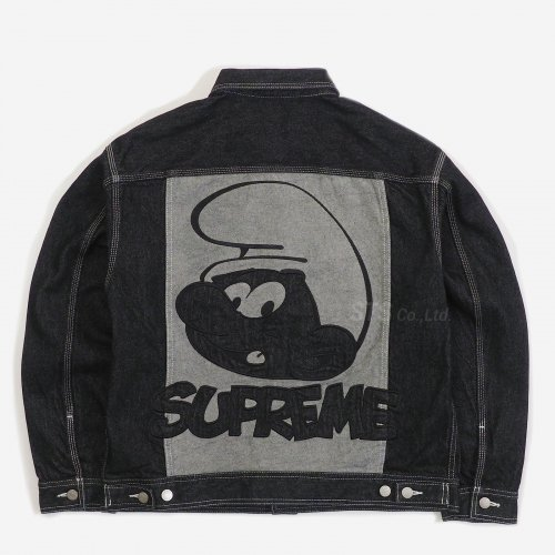 Supreme/Smurfs Denim Trucker Jacket