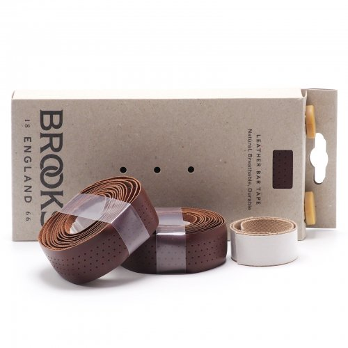 Brooks - Leather Bar Tape / Rubber Bar End