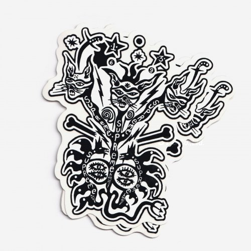 Supreme - Clayton Patterson Sticker