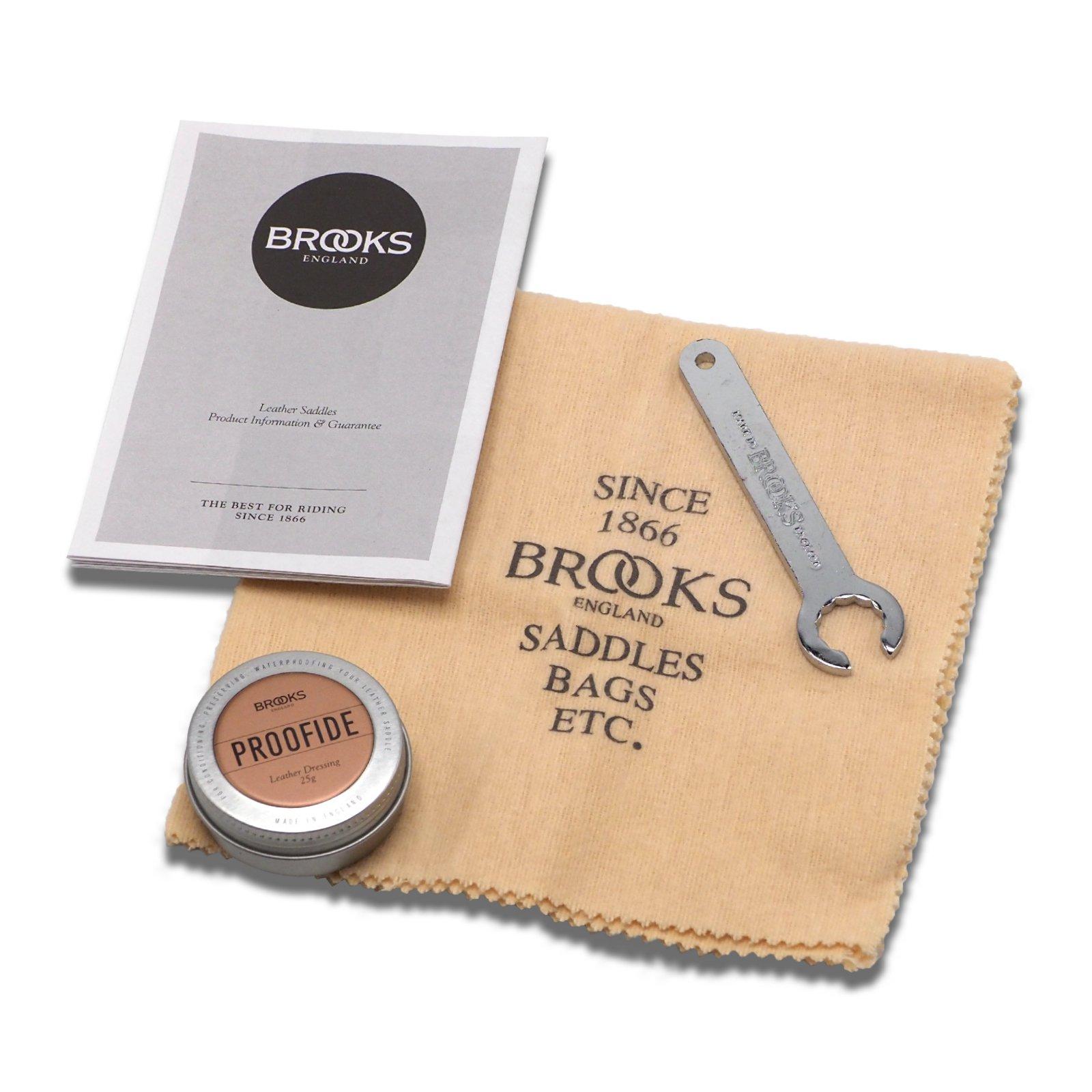 Brooks England Leather Bicycle Saddle Maintenance Kit Proofide Wrench