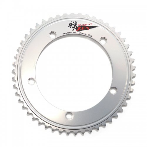 Sugino - ZEN144 Chainring (Silver , 47T-50T) [NJS]