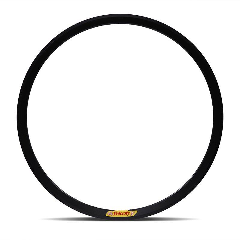Velocity - Deep V Non-Machined Clincher Rim (Black) [700c]