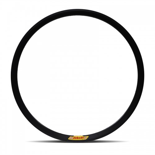 Velocity - Deep V Non-Machined Clincher Rim (Black) [700c]