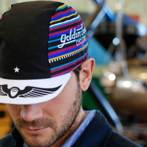 Golden Saddle Cyclery - GSC x Intelligentsia Cycling Cap - Black/Purple