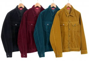 Supreme - Corduroy Snap Front Jacket