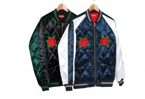 Supreme - Quilted Satin Bomber