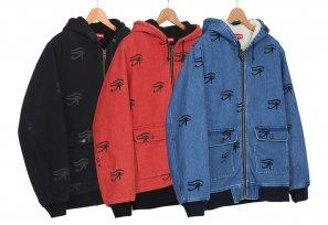 Supreme - Hooded Denim Work Jacket