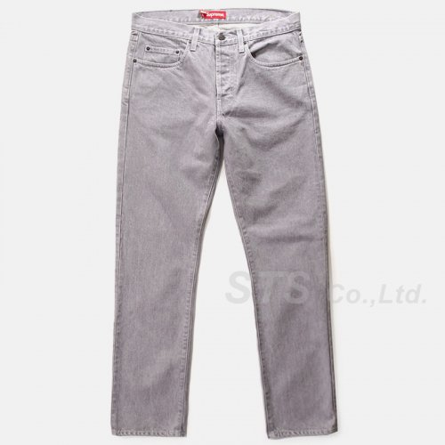 Supreme - Washed Grey Slim Jean