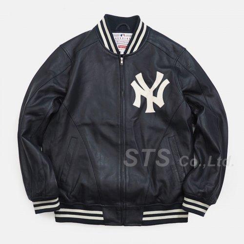 New York Yankees/Supreme/'47 Brand Leather Varsity Jacket