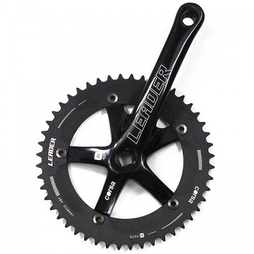 LEADER Bike - Corsa Crankset / Black (144PCD , JIS)